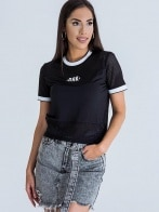 MESH JERSEY CROP TOP WOMEN