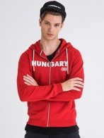 HUNGARY ZIPPED HOODY MEN RED S&P